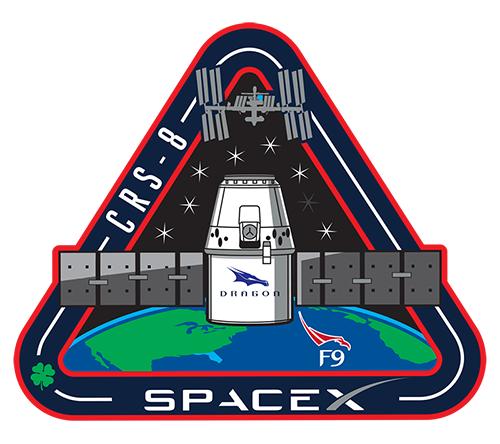 F9 Crs 8 Mission Patch Spacex Spacex Mission Theme Park