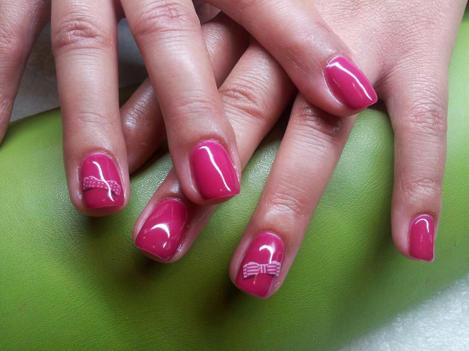 gelinho pink com laçarotes by Catarina SecretNails Viseu