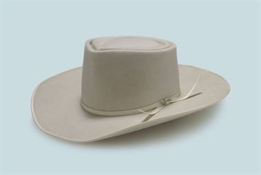 2a79dcec4f1db2 Roy Rogers A white beaver Stetson cowboy hat, size 7¼, featuring Made by  Stetson especially for Roy Rogers stamped on the inside head band.