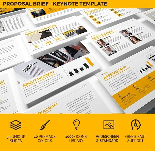 Download GraphicRiver Proposal Brief Keynote Template 19631862 - keynote template