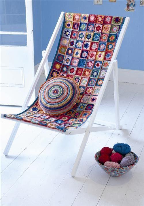 reposera crochet | crochet | Pinterest | Reposeras, Muebles retro y ...