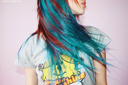 Red And Teal Hair Natural Red Hair Green Hair Colors