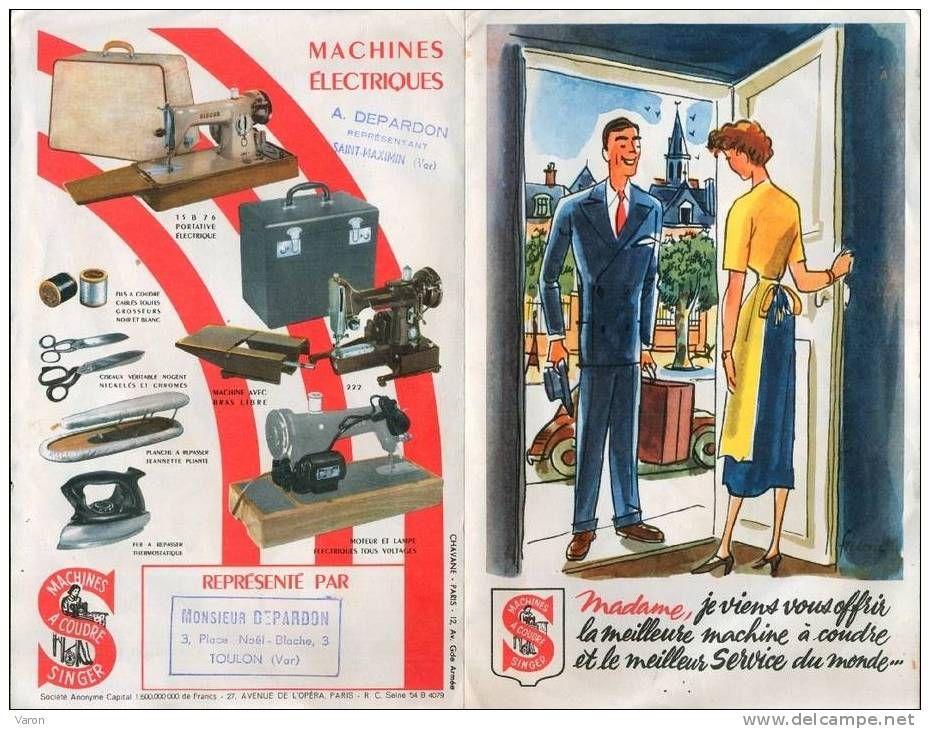 publicit machine coudre singer annees 50 machines coudre pinterest. Black Bedroom Furniture Sets. Home Design Ideas