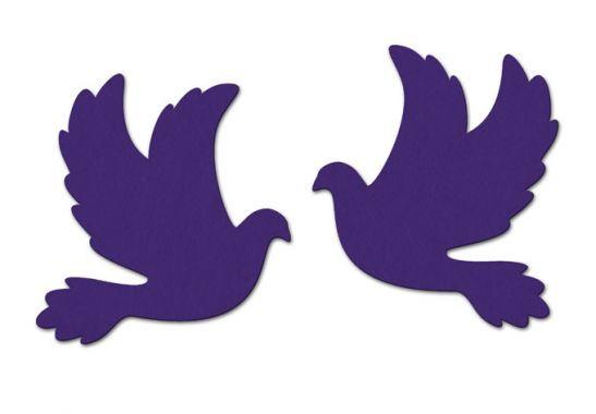 Filz Streudeko Tauben in vielen verschiedenen Farben - perfekt für die Hochzeit!