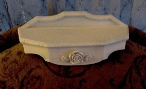 Shabby Wall Shelf- Bed Crown~Vintage Style~Roses   Bed ... on Corner Sconce Shelf Tray id=62821