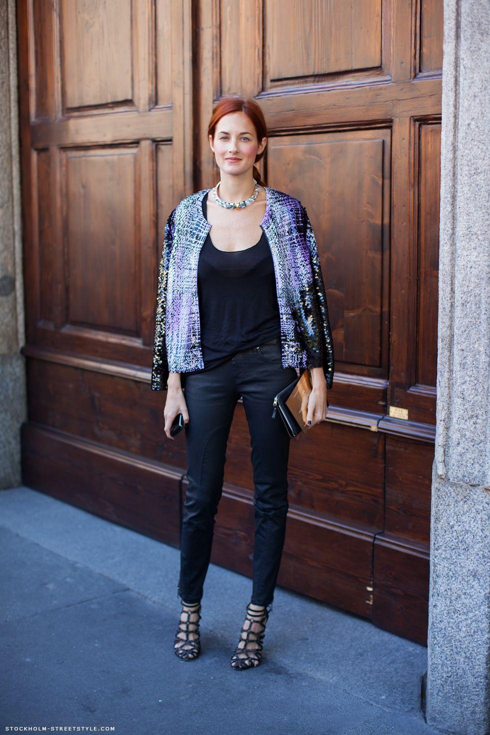 sequins and tweed combo jacket.