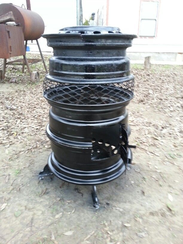 Old Tire Rims Make For The Best DIY Fire Pits | Diy fire pit ...