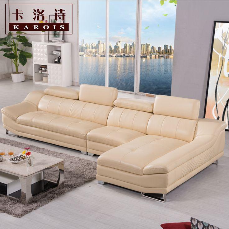 Fabrik verkauf qualitätsechtes leder sofa, abschnitt sofa