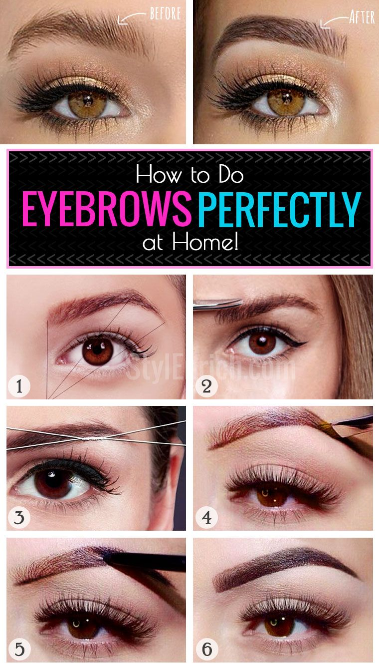 Eyebrow Makeup How To Do Eyebrows Perfectly At Home Makeup
