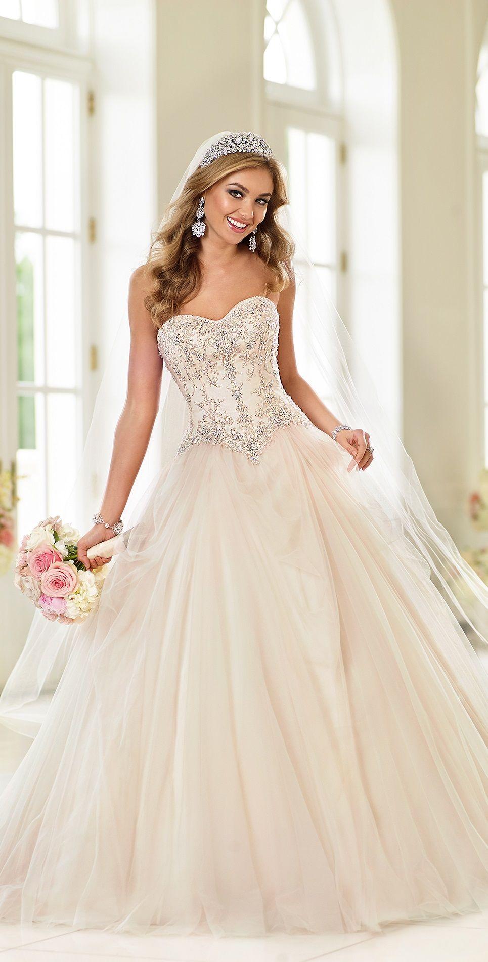 beautiful princess wedding dress, by Stella York. One of