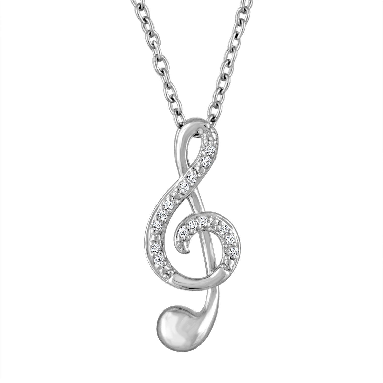 cord chain hot surround necklace blackheart layer with note treble music yourself pin clef pendant