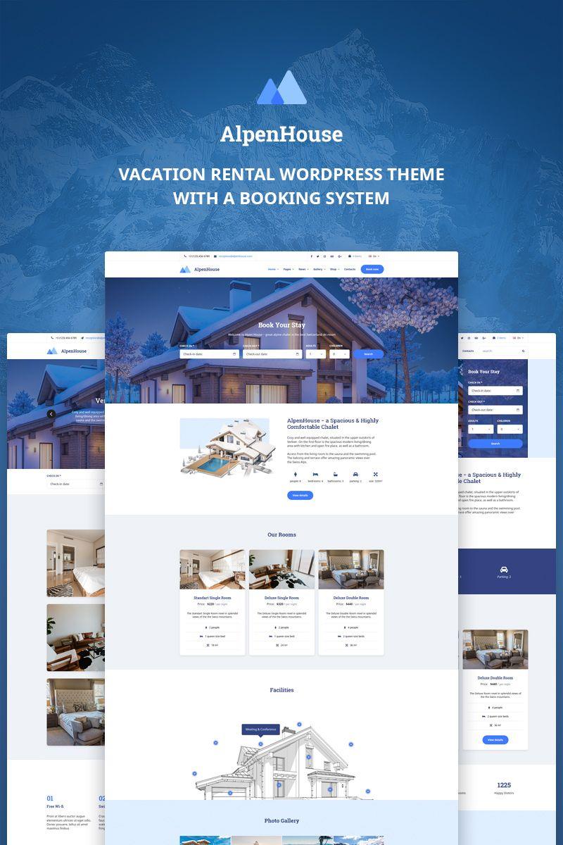 Vacation Rental Wordpress Theme Alpen House Wordpress Theme Hotel Website Vacation Rental