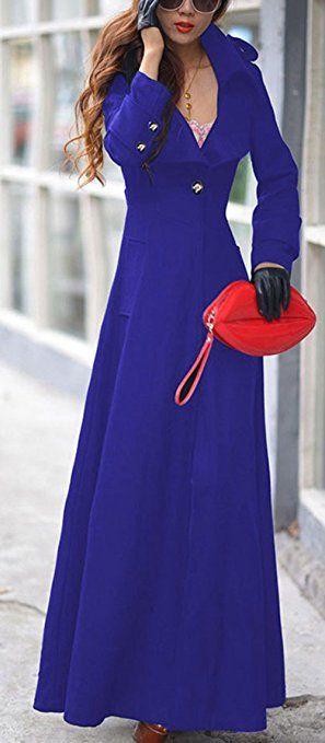 e0ca0bf3226a Bestfort Mantel Damen Parka Trenchcoat Elegant Lang Wolle Gute Qualität  Übergang Langarm Wollmantel Wintermantel Herbst