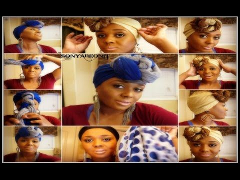 How To Tie A Scarf On Your Head | Be Unique And Look Fabulous - YouTube