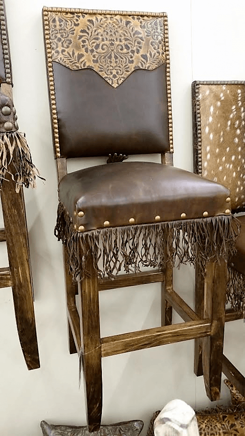 Leather Bar Stool Luxury Western Bar Stools Made In The