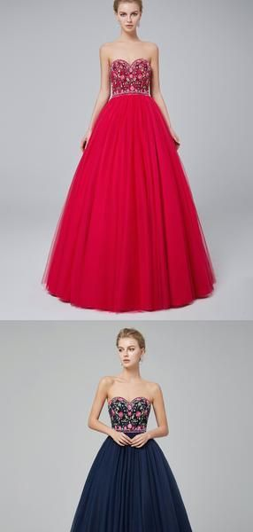 Sweetheart Aline Embroidered Ball Gown Evening Prom Dresses, Evening Party Prom Dresses, 12021 - Prom dresses, Elegant prom dresses, Burgundy prom dress, Prom party dresses, Ball gowns evening, Cheap formal dresses - Sweetheart Aline Embroidered Ball Gown Evening Prom Dresses, Evening Party Prom Dresses, 12021 The Long Evening Prom Dresses are fully lined, there are bones in the bodice, chest pad in the bust, lace up back or zipper back are all available, it could be custom size and color,  there are no extra cost to do custom ord