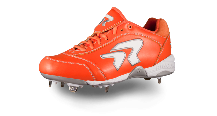 d065223cde8d Ringor Softball Cleats. Available in 9 different colors including this  Orange.