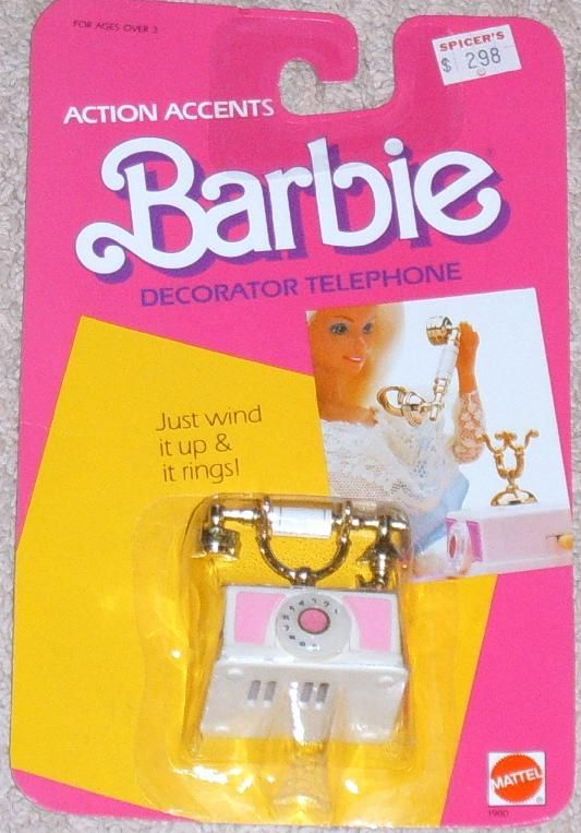 Barbie decorator phone the ring was more like an - Telephone barbie ...