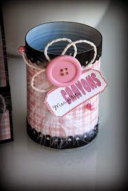 Pot à crayons rose et noir
