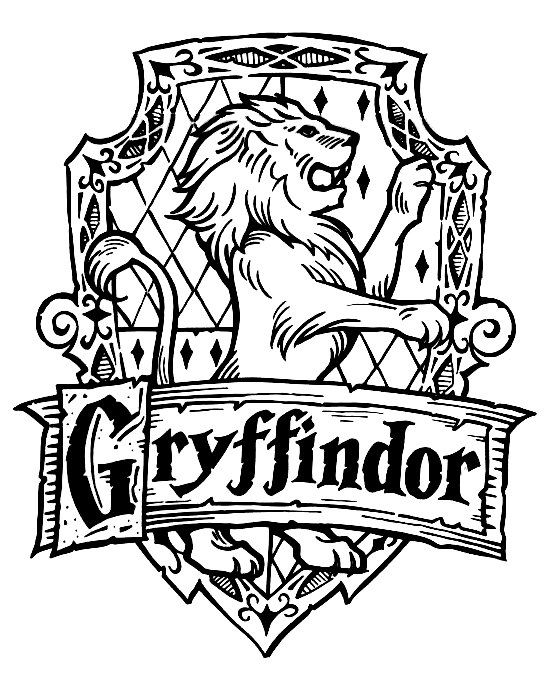 gryffindor crest coloring pages - photo#2