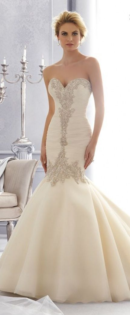 Sweetheart beading lace mermaid wedding dresses 2016