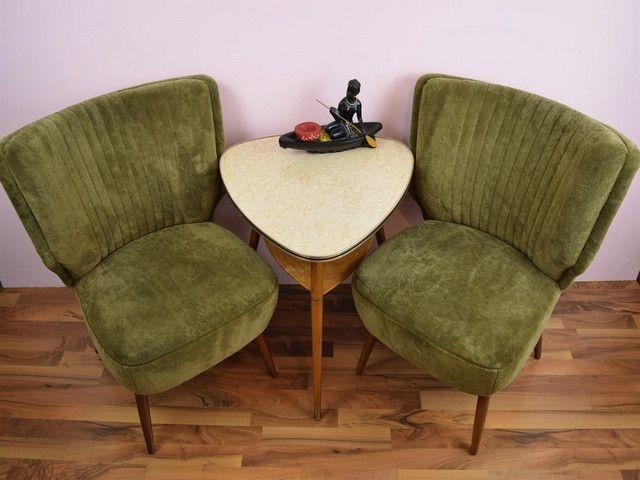 Cocktailsessel  2+Vintage+Sessel,+Cocktailsessel,+grün,+60er+Jahre+von+ShabbRock+ ...