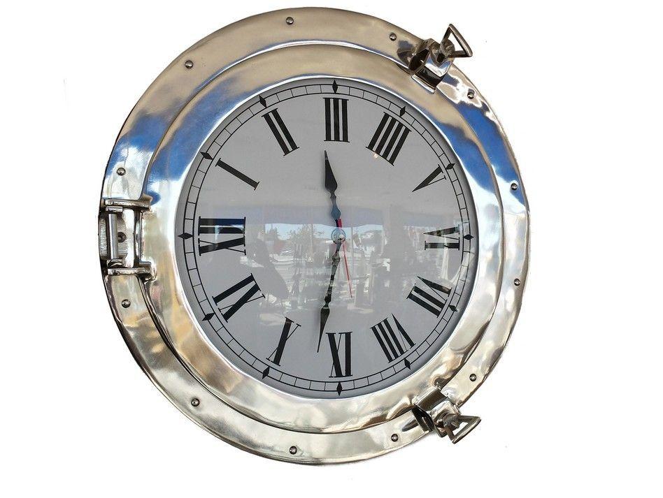 Chrome Decorative Ship Porthole Clock 20 Muestras En 2019