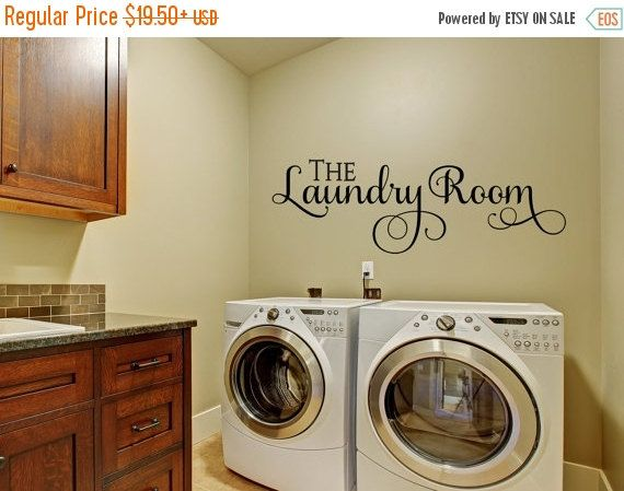 Wall Decals for the Home- Laundry Wall Decal ...