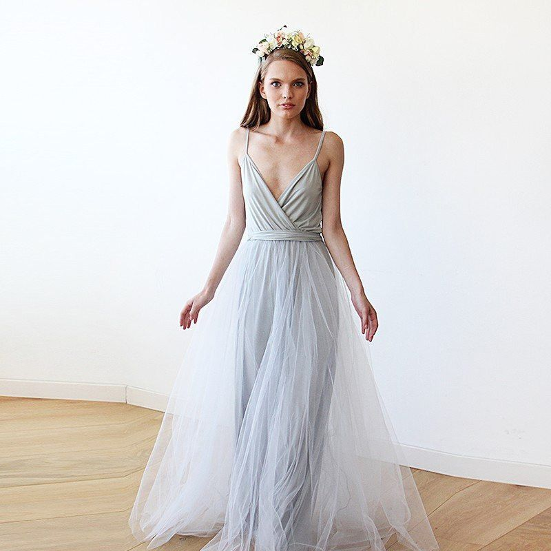 20 Most Perfect Bridal Gowns This Year: Dreamy And Romantic Tulle Maxi Gown, With A Sophisticated