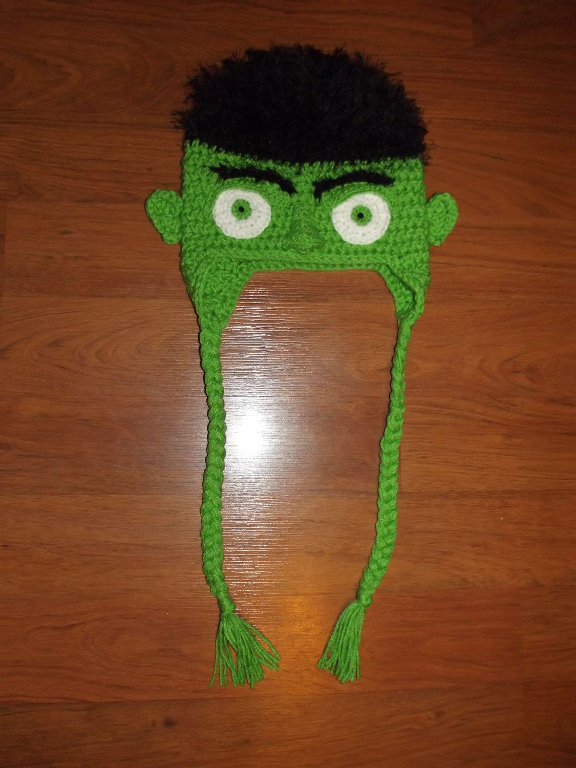 Crochet Incredible Hulk lookalike hat by HandmadeCrochetByAmy ...