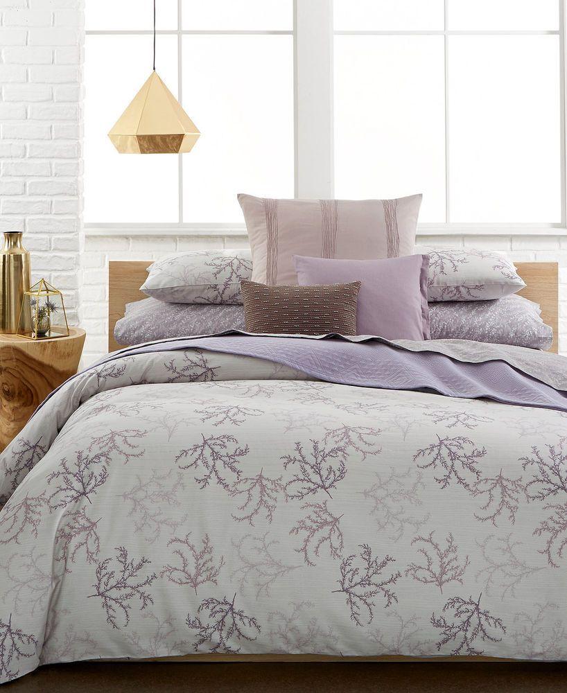 Calvin Klein Mesa Dust Purple Floral Queen Comforter 2 Standard Sham Set Calvinklein Duvet Cover Sets Duvet Sets King Comforter Sets