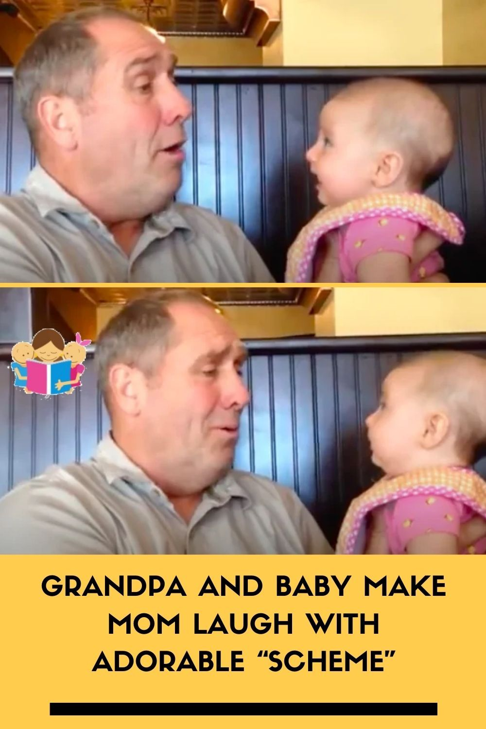 Grandpa And Baby Make Mom Laugh With Adorable Scheme In 2020 Family Parenting Family Kids Kids And Parenting