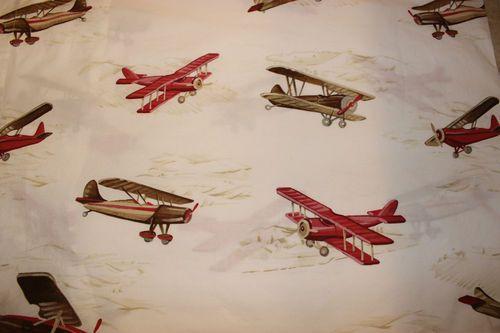 Pottery Barn Kids Tyson Airplane Sheet Set Full | all boy