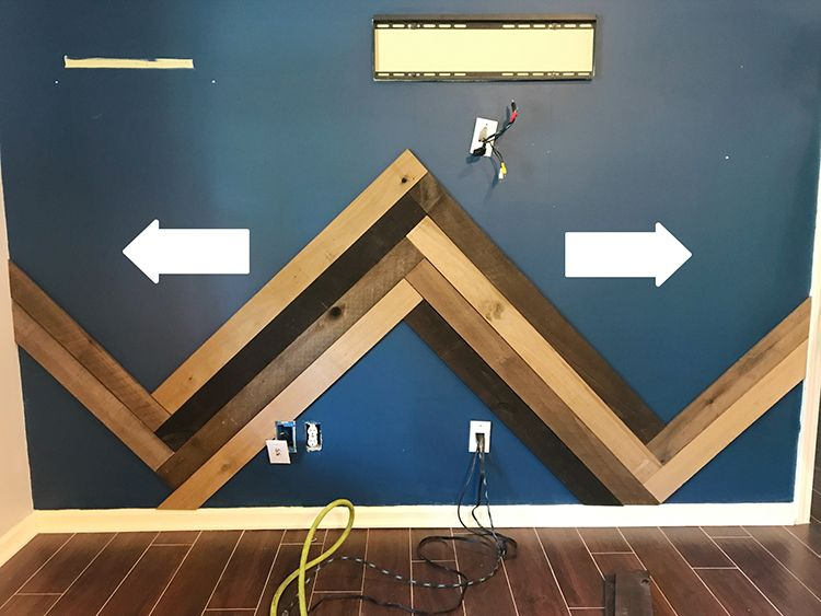 How To Install A Barn Wood Accent Wall In Herringbone Pattern Wood Accent Wall Wooden Accent Wall Herringbone Wall
