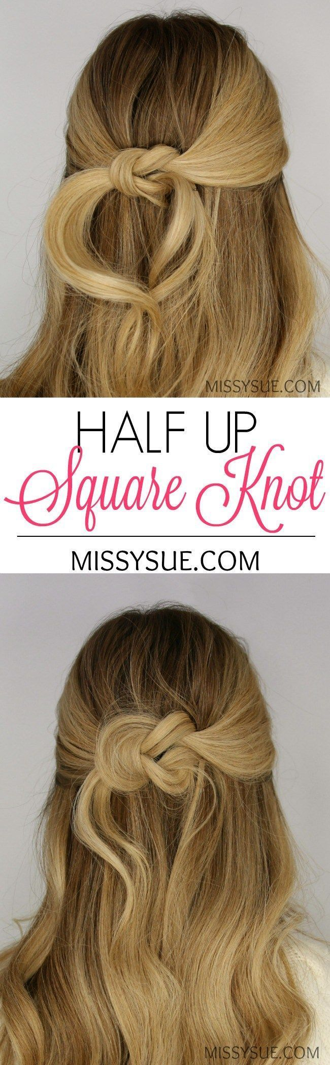 half up square knot - #square - #frisuren | frisuren
