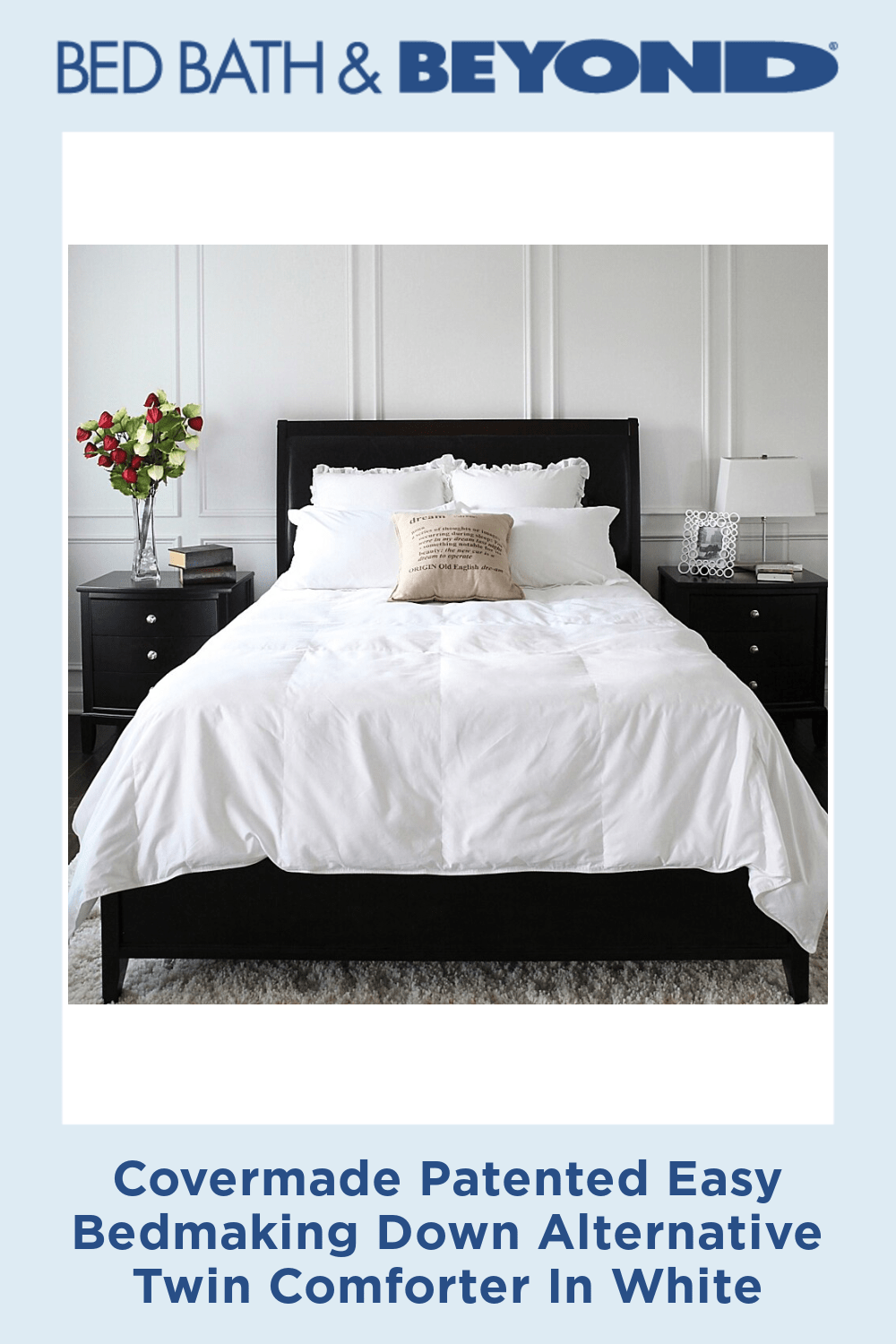 Photo of Covermade Patented Easy Bedmaking Down Alternative Twin Comforter In White