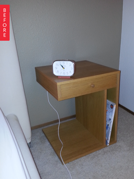 Old Ikea Nightstands Before u0026 After: Old IKEA Nightstand Gets a Quick Refresh | Apartment Therapy