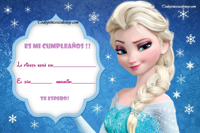 Tarjetas De Cumpleaños Frozen Para Imprimir En Hd 15 En Hd