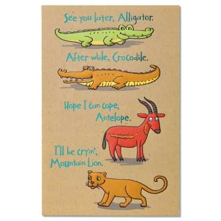 American Greetings Funny Animals Goodbye and Good Luck Congratulations Card  with Foil, Multicolor | American greetings, Congratulations card and Walmart