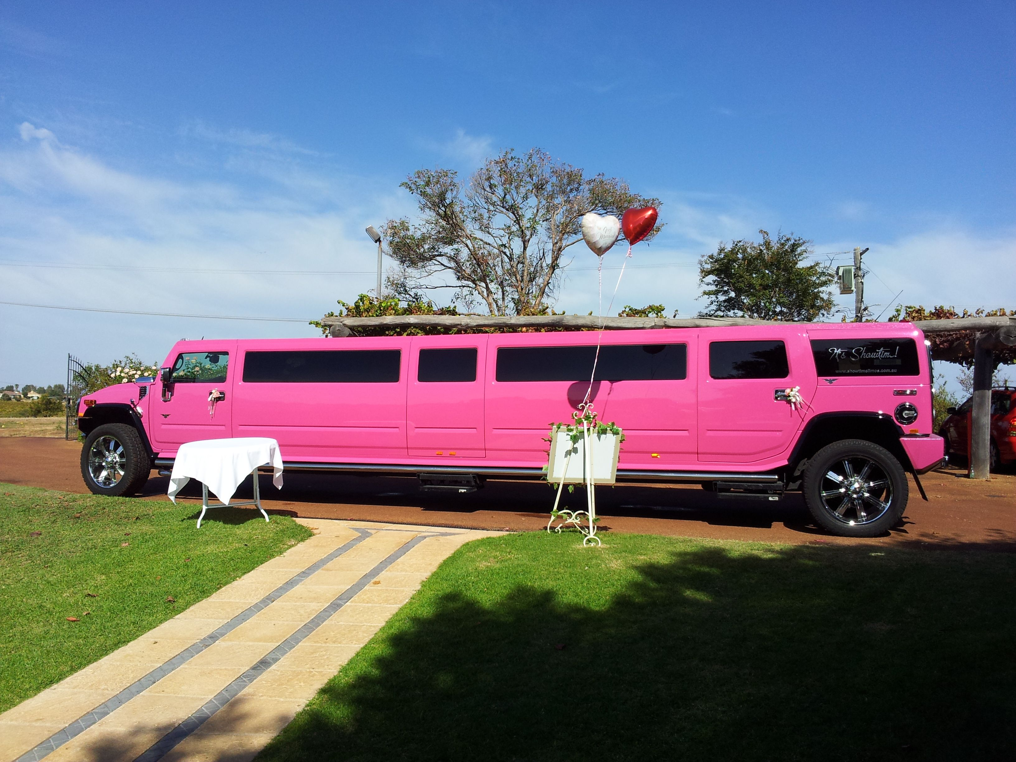 Want impact: turn up to your wedding in a pink hummer by ... | pink hummer hire perth