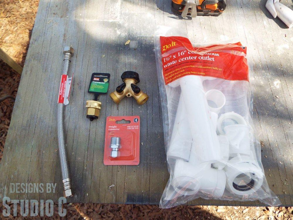 Install Outdoor Sink From Garden Hose Tutorial Outdoor Kitchen Sink Outdoor Garden Sink Outdoor Sinks