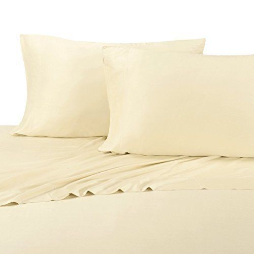 Queen Ivory Silky Soft Best Bamboo Sheets 600 Thread Count 100