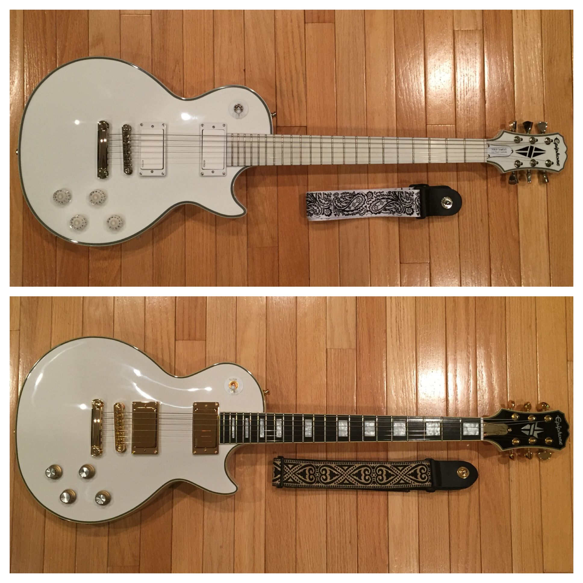 epiphone guitars matt heafy snofall bjorn gelotte les paul signature electric guitars cool. Black Bedroom Furniture Sets. Home Design Ideas