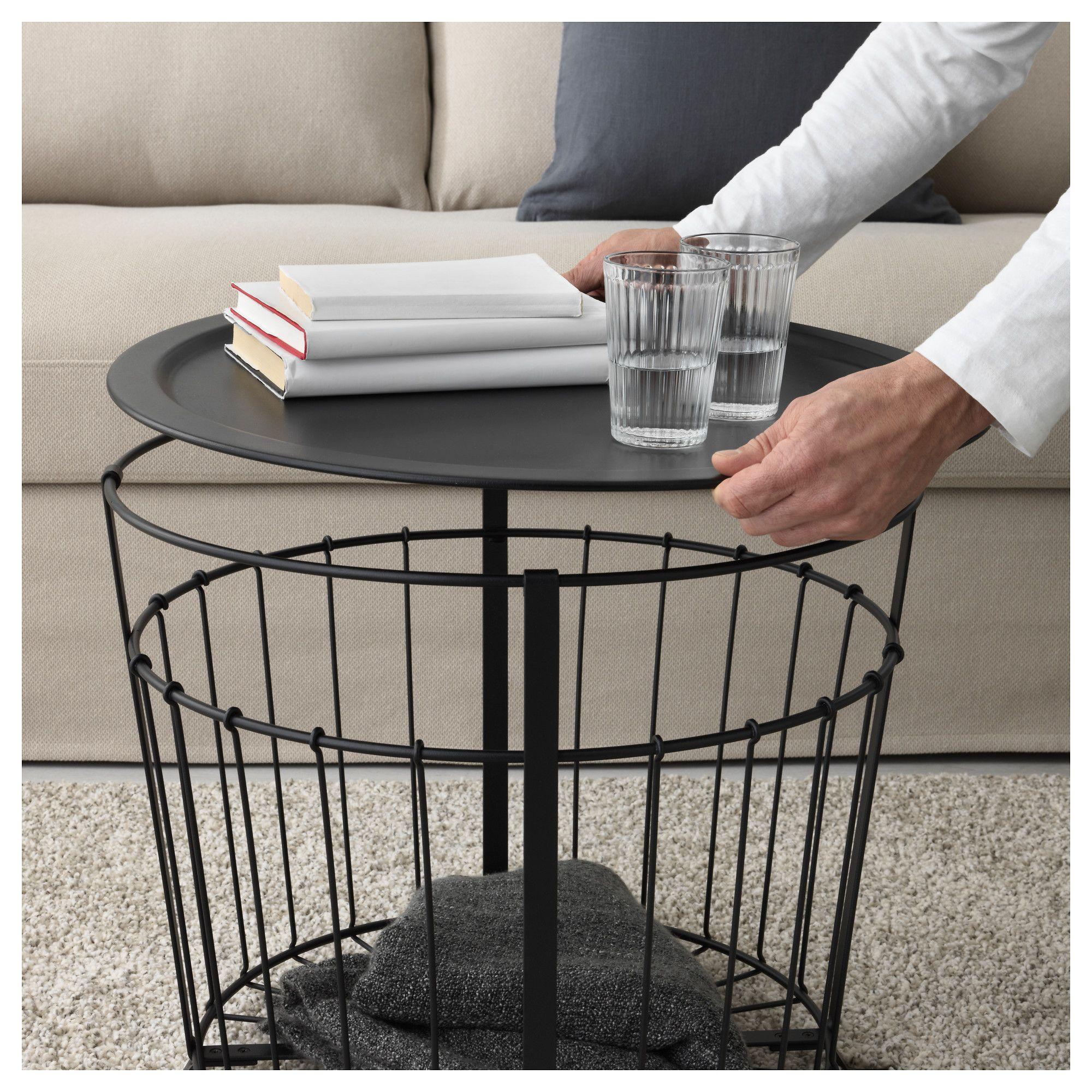 Gualov Storage Table Black 235 8 60 Cm Ikea In 2021 Table Storage Blanket Storage Living Room Blanket Storage Basket [ 2000 x 2000 Pixel ]