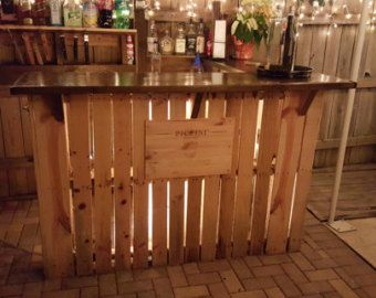 Reclaimed wood pallet bar indoor/outdoor by RusticRemake on Etsy ...