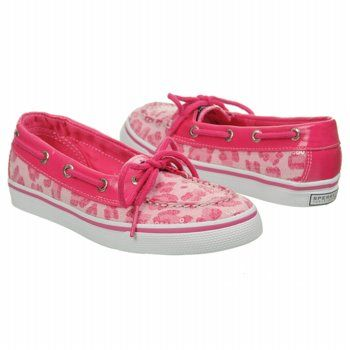 As seen on TV! Kids Sperry Top-Sider ' Biscayne Pink/Cheetah FamousFootwear.com #myvictory