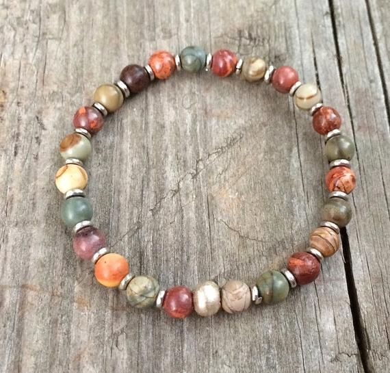 Photo of Bohemian Jewelry, Boho Colorful Bracelet, Boho Bracelet, Beaded Bracelet, Boho Jewelry Silver, Stone Bracelet, Colorful Jewelry