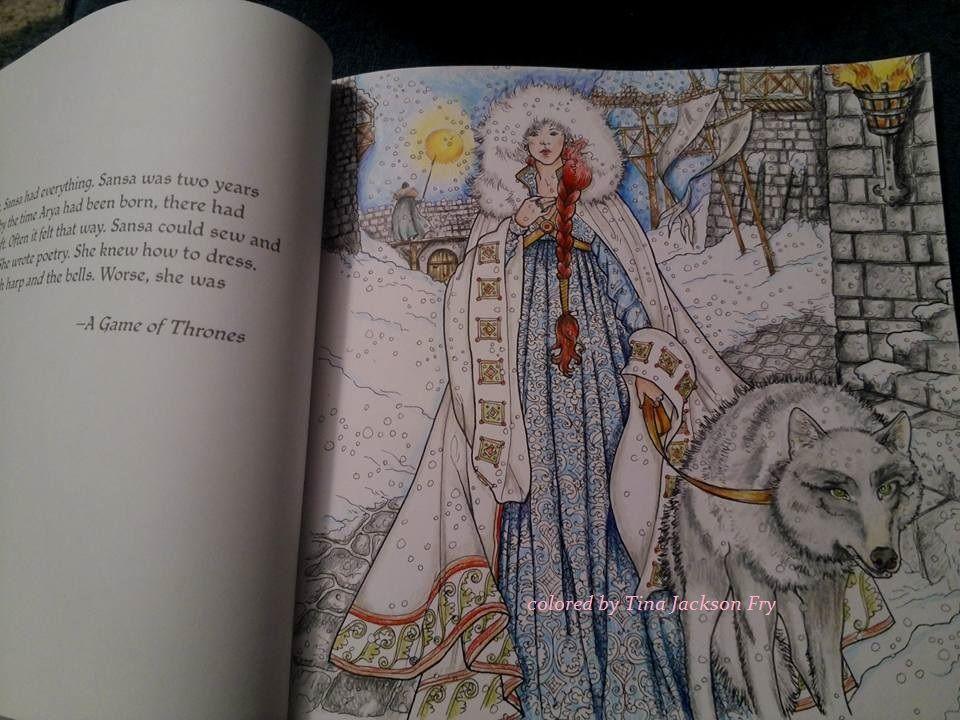 Game Of Thrones Coloring Page Sansa Livro De Colorir Colorir
