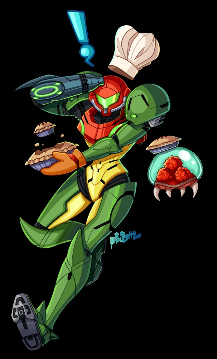 Chef Samus Overlay Art By Pixilette Star Deviantart Com On Deviantart Samus Metroid Samus Metroid