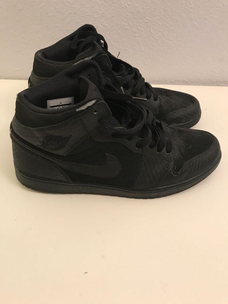 c99d4b57bf73 Nike Air Jordan 1 Mid Black Black-Dark Grey 554724-021~Size 11.5 ...